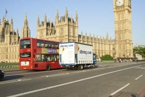 Storing.com truck, Big Ben, London