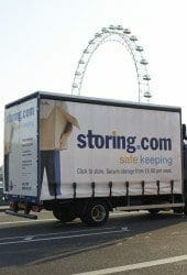Storing.com truck and London Eye