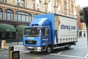 Storing.com truck at Harrods