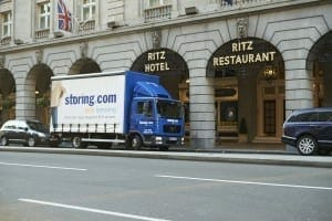Storing.com truck at the Ritz, London