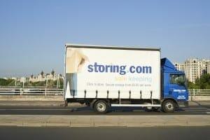 Storing.com truck on Waterloo Bridge London
