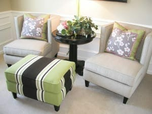 armchair in self storage