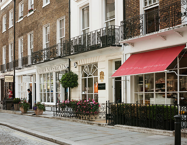 exclusive shopping in Belgravia, London