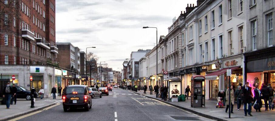 Chelsea shopping street