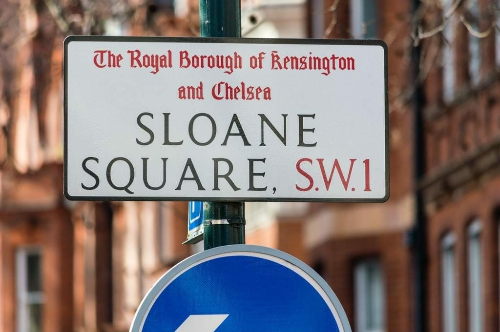 Sloane Square Street Sign Chelsea