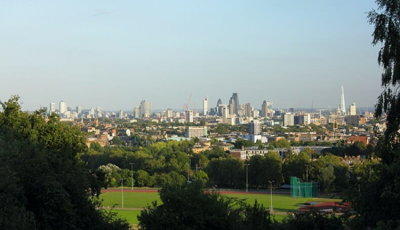 Moving to Hampstead - view of Parliament Hill