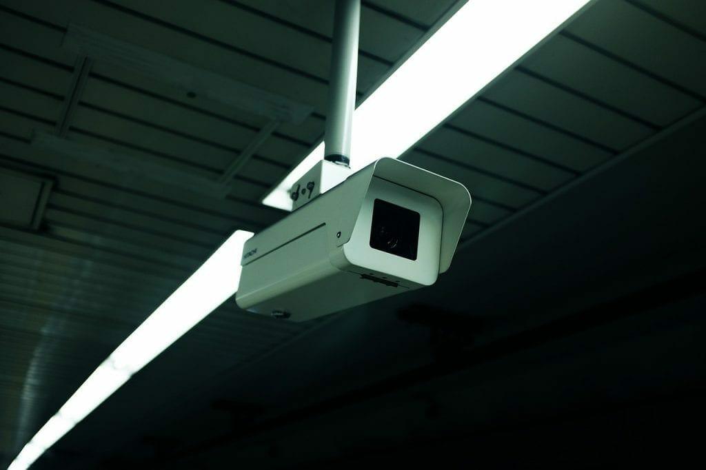 Camera in a secure self storage unit