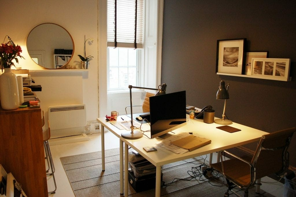A well organised small space home office