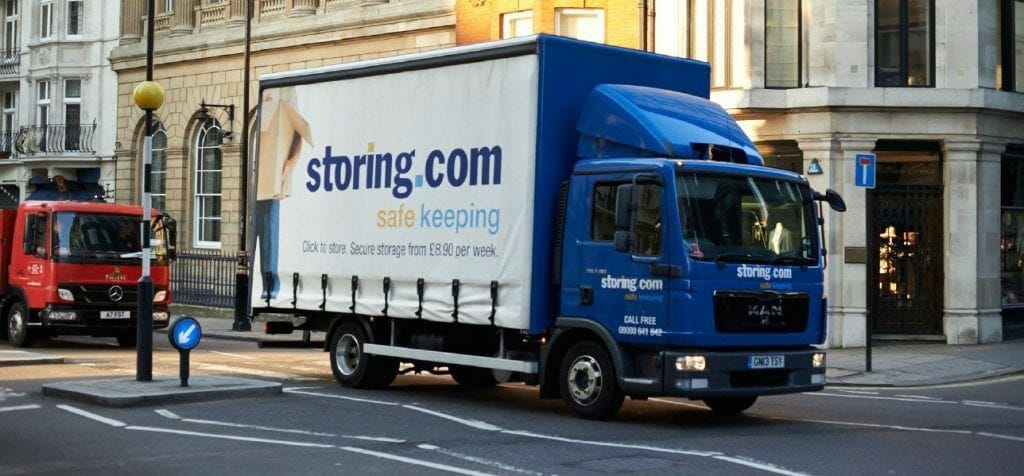 A Storing delivery van out for a move to London