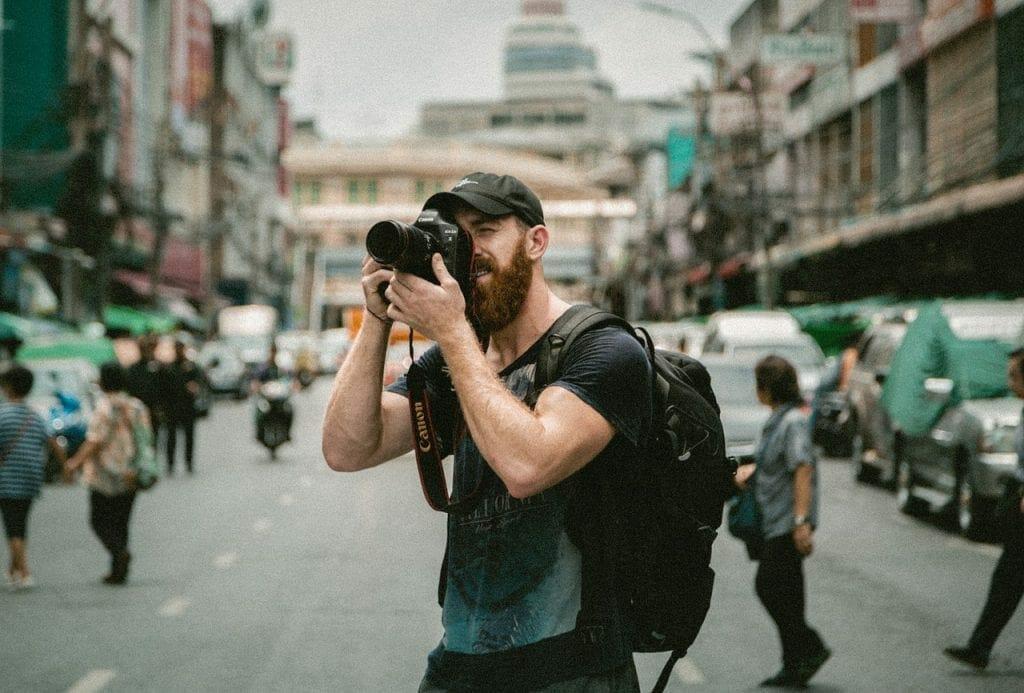 Social Media Influencer Taking Photos