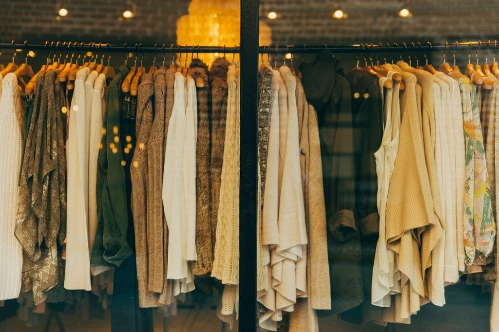 Designer clothes for self storage