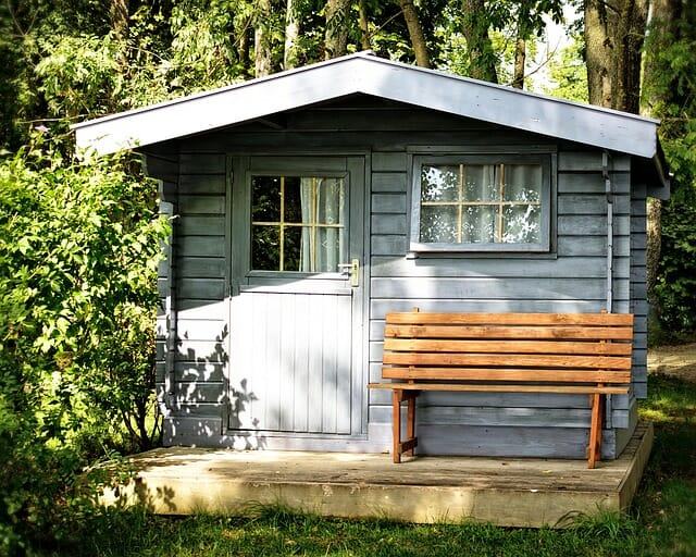 A shed ready fro some storage hacks